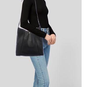 Tory Burch Genuine Black Leather Hobo Bag